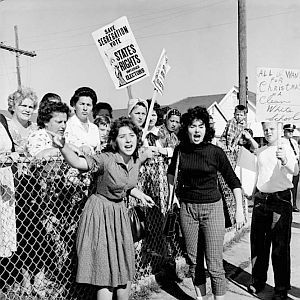 Sidewalk protest in New Orleans over school integration, November 15th,1960.