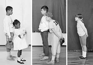 """Child models used by Rockwell for """"New Kids,"""" 1967."""