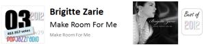 pop jazz radio best of 2012 No 3 Brigitte Zarie Make Room For Me