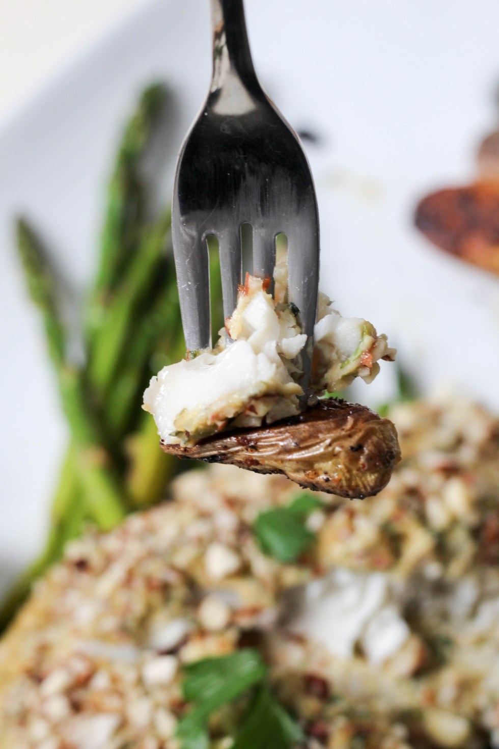 Almond crusted mediterranean tilapia or mushroom caps, carrot and date endive boats, and coconut cardamom rose chia pudding. An easy 3 course meal, perfect for Mother's Day   POP KITCHEN