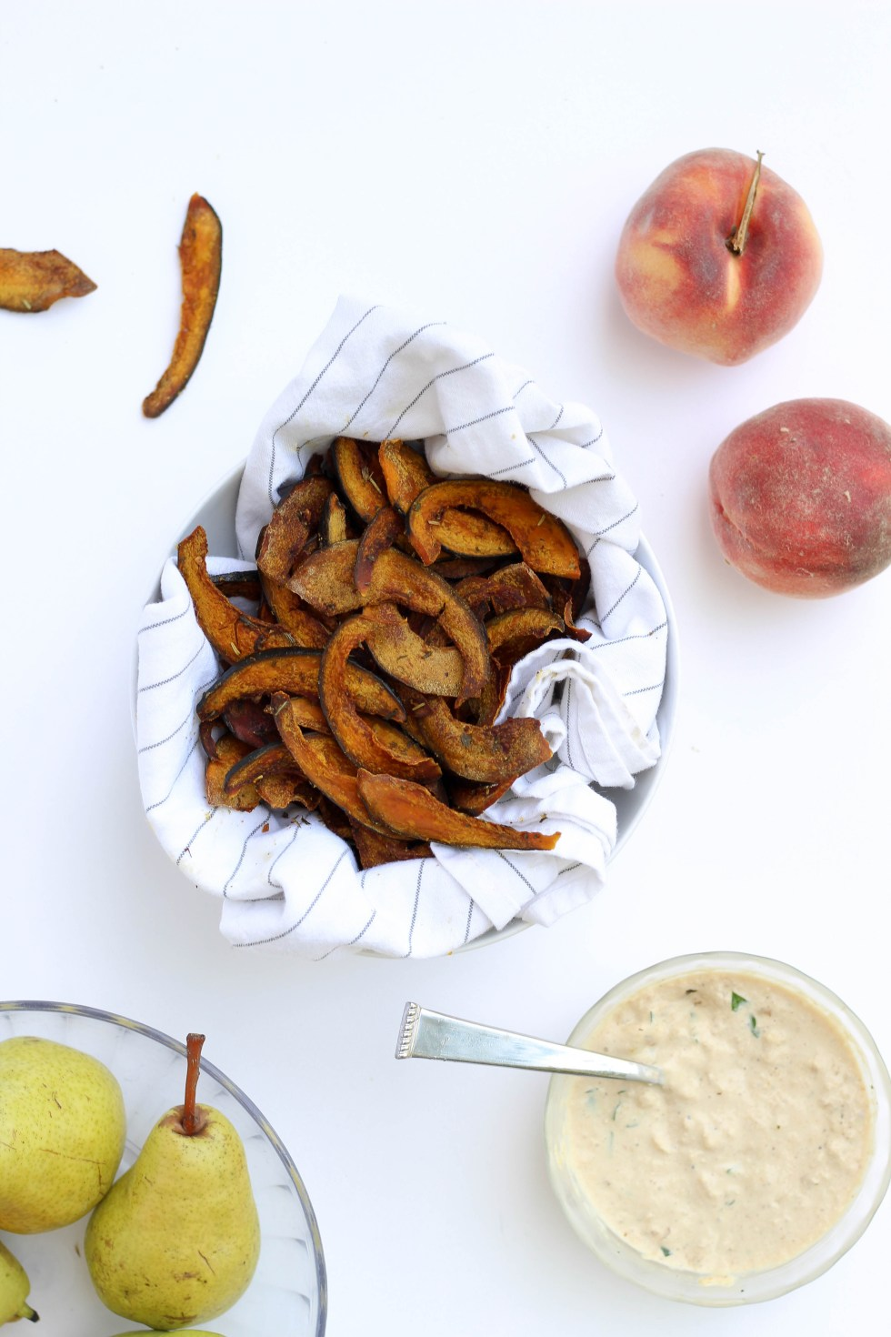 Roasted squash chips with homemade french onion dip // POP KITCHEN