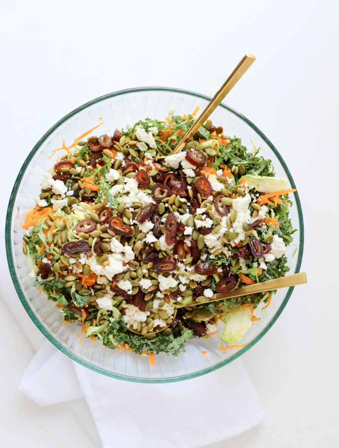 Shaved Brussels Sprout Salad with Butternut Squash