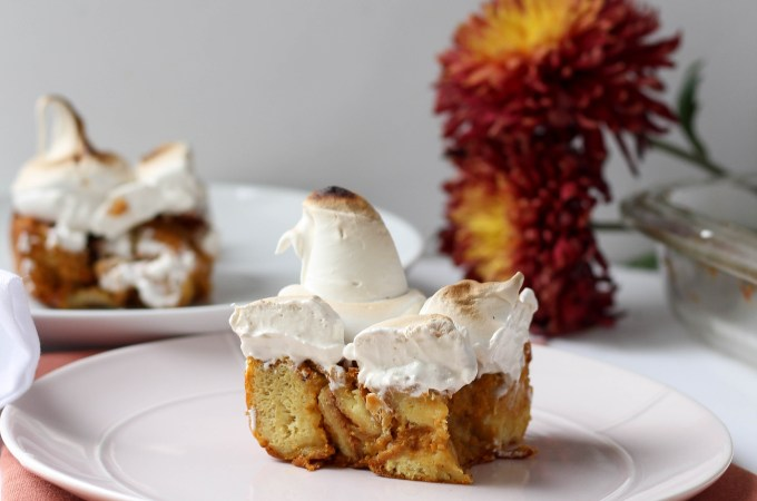Sweet Potato Bread Pudding with Maple Marshmallow Fluff // POP KITCHEN