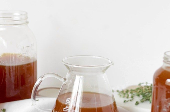 Bone Broth Recipe from your Leftover Thanksgiving Turkey Bones // POP KITCHEN