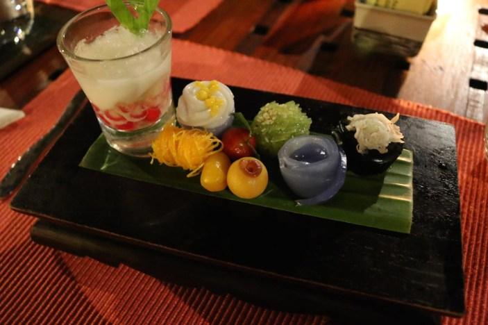 A Thai dessert sampler