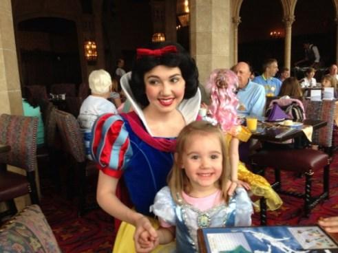 matt's daughter & snow white