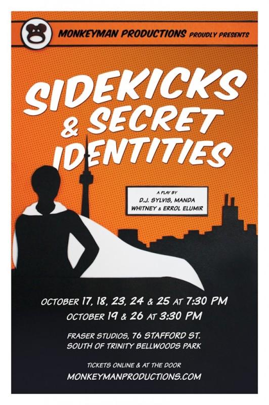 monkeyman productions - sidekicks & secret identities poster