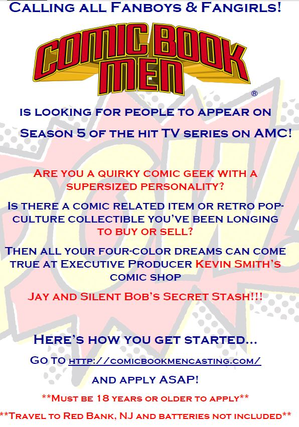 comic book men casting call