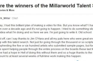 millarworld talent search winners