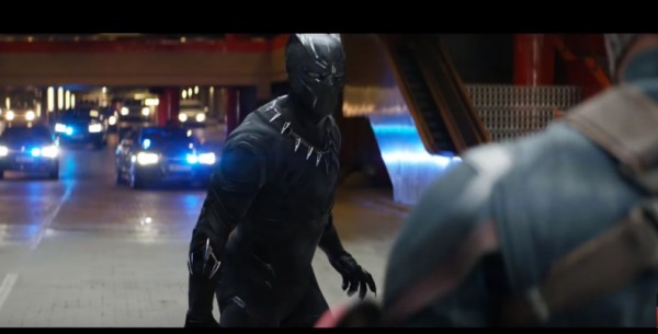 Black Panther is immediately Captain America's equal. Image: Walt Disney Studios Motion Pictures