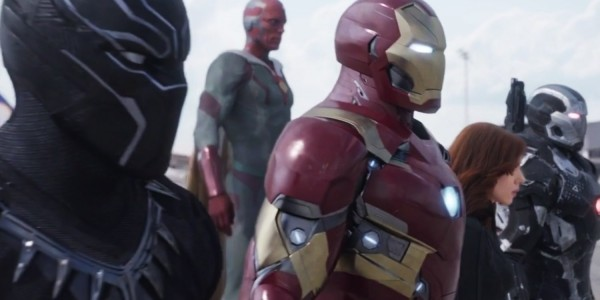Team Iron Man. Only five. Image: Walt Disney Studios Motion Pictures.