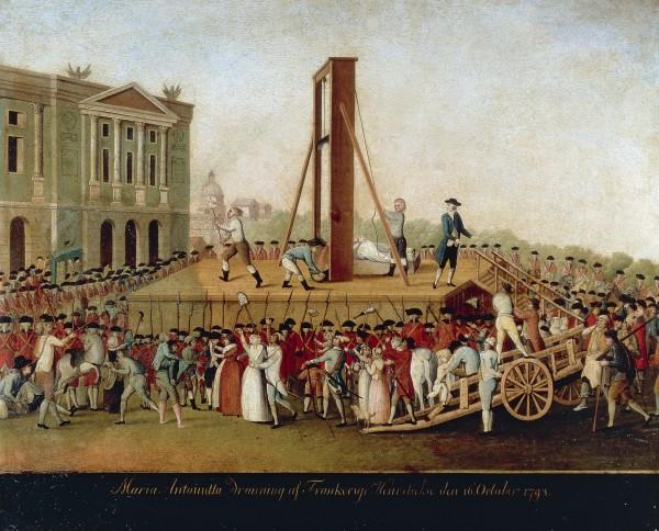 The Execution of Queen Marie-Antoinette on October 16, 1793 (Musee de la Ville de Paris)