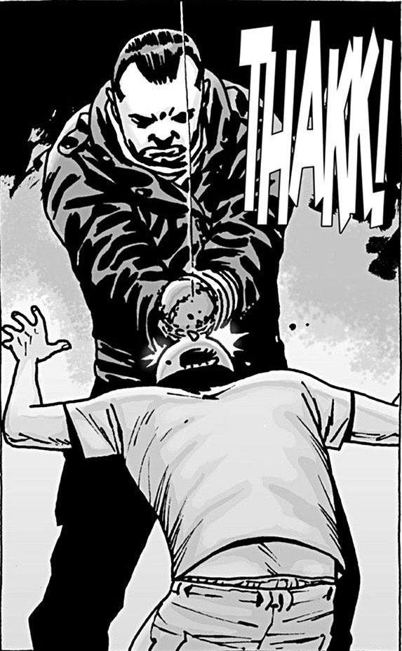 Negan kills Glenn (Charlie Adlard/Image Comics)