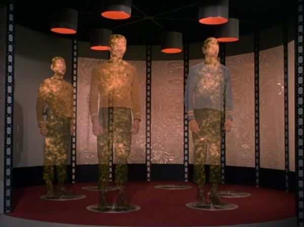 Star Trek transporter in action (from the original 1966-69 series/CBS Entertainment)