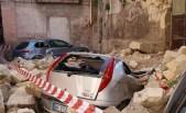 Via Pentite, crollo della chiesa di San Paolo avvenuto nel febbraio 2012.