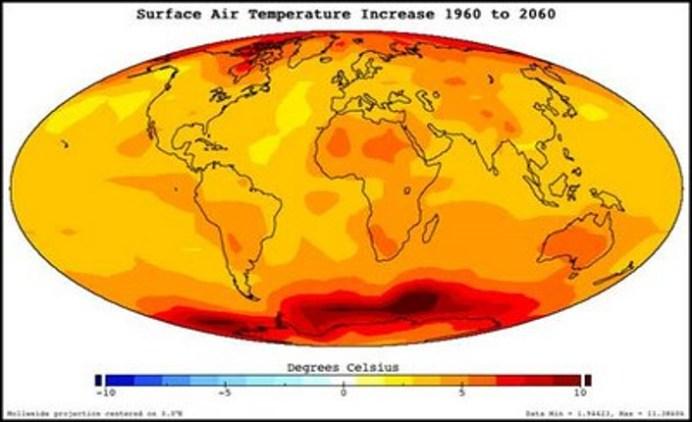 mappa surriscaldamento globale