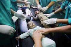 Tre neonati feriti affidati alle cure dl pronto soccorso.