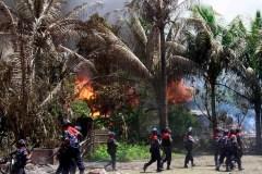 Distruzione di un villaggio karen.