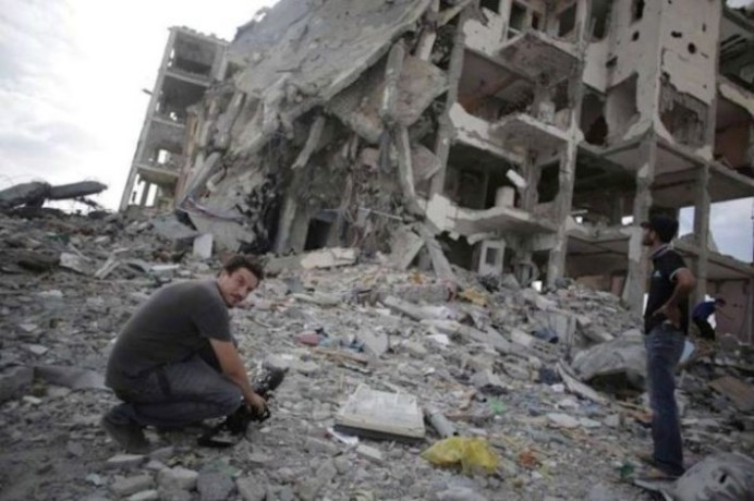 Simone Camilli, morto a Gaza il 13 agosto 2014.