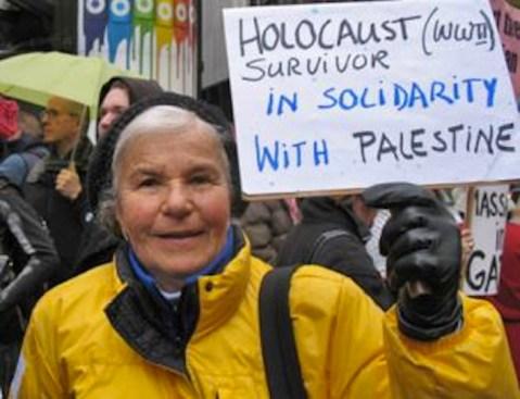«Sopravvissuta all'Olocausto della seconda guerra mondiale esprime solidarietà con la Palestina».