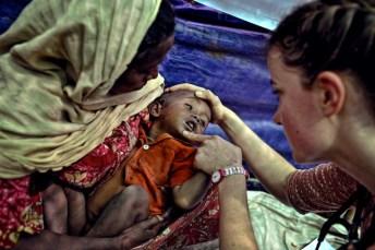 Questa bimba si chiama Rakhine e ha dieci mesi.