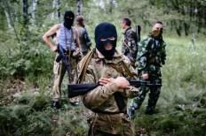 Milizie volontarie non inquadrate nell'esercito del Donbass.