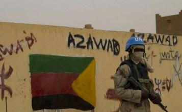 Murale inneggiante alla creazione dello Stato tuareg indipendente dell'Azawad.