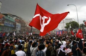 Manifestazione maoista nello Stato di Chattisgarh.