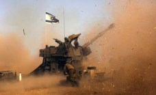 tank israeliano in azione