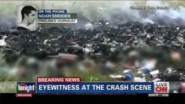 Il giornalista freelance Noah Sneider (uno dei primi ad arrivare sul luogo del disastro) intervistato dalla Cnn.