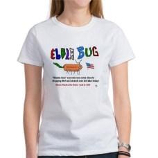 Un'altra t-shirt di cotone col marchio ebola. Su Cafepress. 13,33 euro.