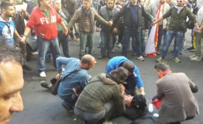 scontri roma Ast Terni 29 otobre 2014