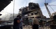 Una parte del centro di Tripoli è stata distrutta dalla battaglia in corso.