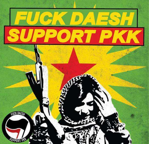 immagine campagna fuck daesh support pkk