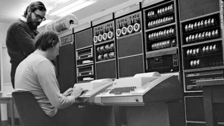 Dennis Ritchie and Ken Thompson at Bell Labs