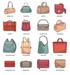 types of handbags chart [ 1500 x 1509 Pixel ]
