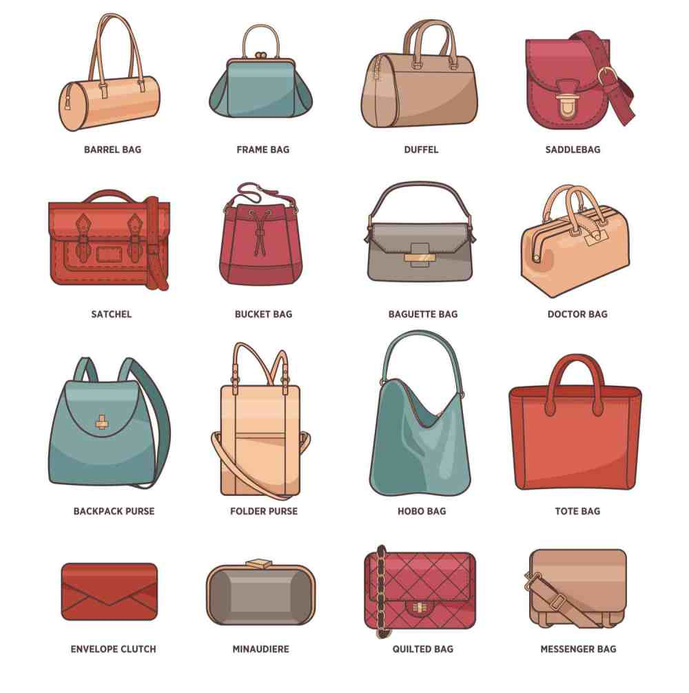 medium resolution of types of handbags chart