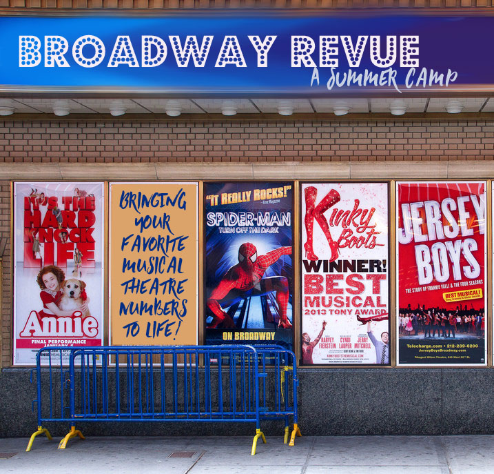 Broadway Revue: 4th-6th grade: July 10 – 21 from 9:00 – 12:30pm