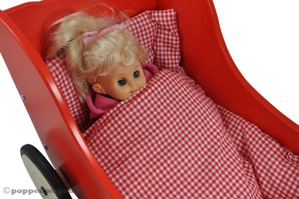 New Classic Toys Rood met dekje  Poppenwagenbe