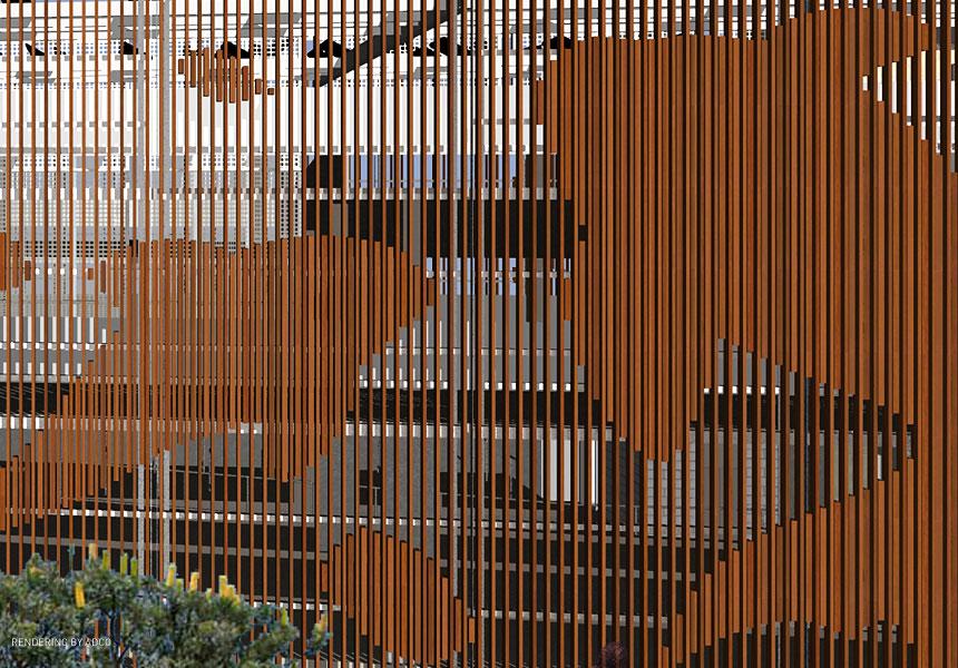 Popper Box  Public Art  Design Faade