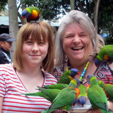 Poppy & Adrienne at the Currumbin Wildlife Sanctuary 2019