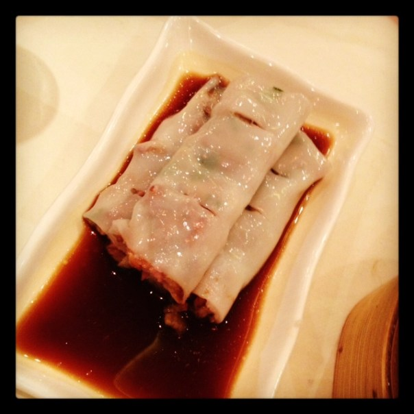 They ordered king prawn AND roast pork cheung fun (love that name)