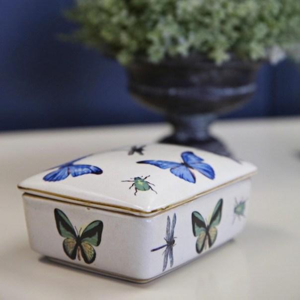 India Jane butterfly rectangular trinket box