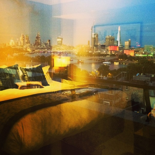 The view from my room a the Charing Cross Hotel...London looking lovelier than ever
