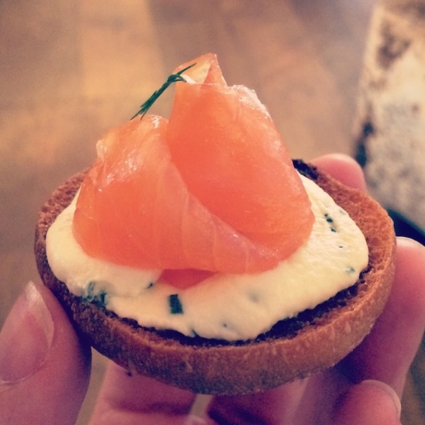Delicious canapés at The Ivy