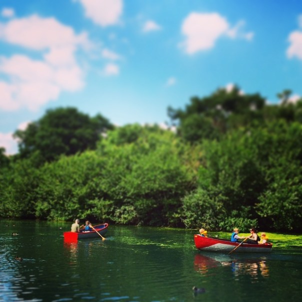 Messing about in boats in Finsbury Park...