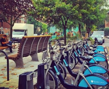 Boris Bikes on Westbourne Grove