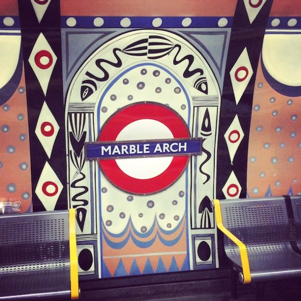 Marble Arch Station - en route to the Nordic Bakery on Dorset Street