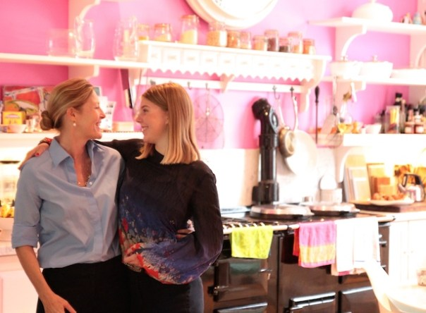 Sophie Conran with daughter, Coco at her home for her Macmillan Coffee Morning