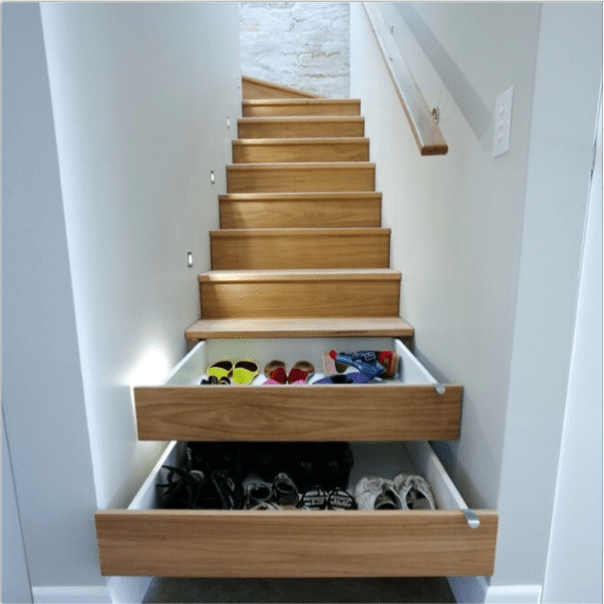 Drawers in stairs